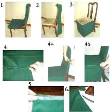 no sew dining chair covers brilliant how to make dining chair covers large and beautiful photos