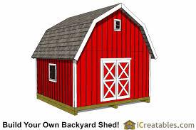 16x16 gambrel shed plans sku shed16x16 gb