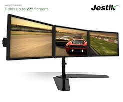 3 Monitor Display Stand Gorgeous Amazon Jestik Horizon Triple Monitor Stand LCD Monitor Stand