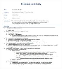 sample meeting summary template