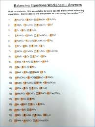 writing chemical equations worksheet balanced chemistry 1 and balancing answers answer key ap equation