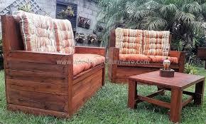 wooden pallets furniture ideas. Wooden Pallet Garden Furniture With Storage Pallets Ideas