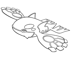 Primal Kyogre Pokemon Coloring Pages