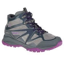 womens merrell capra bolt leather mid waterproof hiking boots new