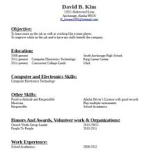How To Write A Resume With No Job Experience Simple High School Resume No Work Experience How To Write A With Writing