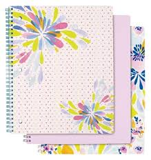 Divoga Personal Size Notebook Happy Floral Collection 10 12 X 8