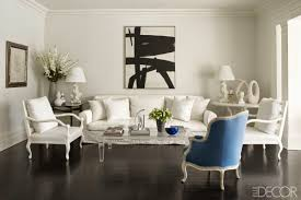 Decoration furniture living room Ultra Modern Elle Decor 20 White Living Room Furniture Ideas White Chairs And Couches