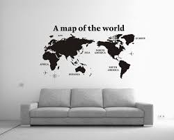 home office wall art. Cool Office Wall Art Black White High Quality 2014 New Large 80x138cm A Map Of The World Decoration Home Decals