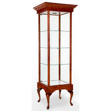Tall Square Trophy Tower Showcase / Display Case - Queen Anne Collection