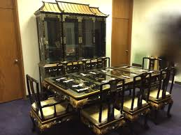 Dining Room Set With China Cabinet Oriental Dining Table