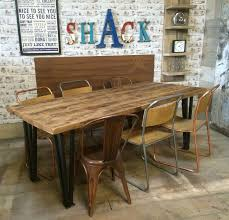 dining tables ebay uk. vintage industrial hairpin leg rustic reclaimed plank top dining table uk made in home, furniture tables ebay uk