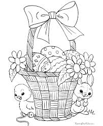 Small Picture Easter Basket Coloring Pages GetColoringPagescom