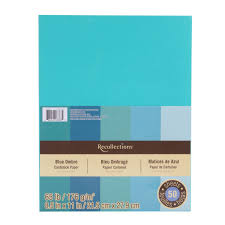 Amazon Com Recollections Cardstock Paper Blue Ombre 8 1 2 X 11 Colored Cardstock Paper L