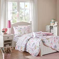 Mi Zone Kids Bonjour Full Comforter Sets For Girls Pink French Paris 8 Pieces Kids Girl Bedding Set Ultra Soft Microfiber Childrens Bedroom Bed Comforters Buy Online At Best