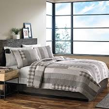 Amazon.com: Eddie Bauer 215640 Madrona Cotton Quilt Set, Full ... & Eddie Bauer Fairview 3-Piece Cotton Reversible Quilt Set, Full/Queen Adamdwight.com