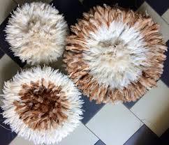 natural feather juju hat wall decor