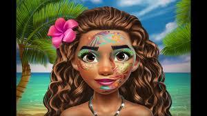 unledexotic princess makeup princess moana funny makeup game for kids