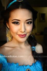 princess jasmine makeup hair tutorial you can see the eyeshadow a bit better here