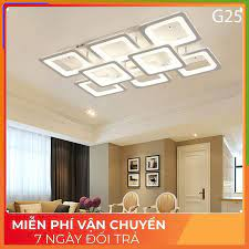 ĐÈN led ốp trần , đèn trang trí phòng khách 8 cánh vuông hiện đại 3 chế độ  sáng kèm điều khiển từ xa tại Hà Nội