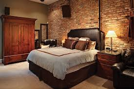 brick wall bedroom decor