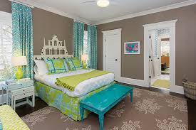 Pagoda Headboard Contemporary Girl's Room Colordrunk Design Delectable Living Room Turquoise Remodelling