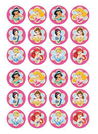 Disney Princess Edible Cupcake Toppers Viparty