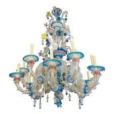 stylish venetian glass chandelier venetian glass chandeliers the antiques divathe antiques diva