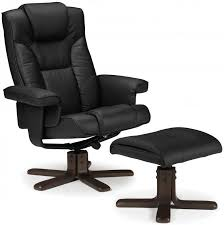 discount faux leather chairs. julian bowen malmo black faux leather swivel and recliner chair - with footstool discount chairs