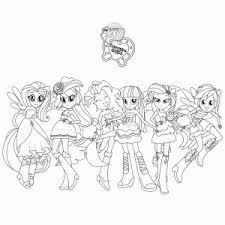 My Little Pony Equestria Girls Kleurplaten Leuk Voor Kids
