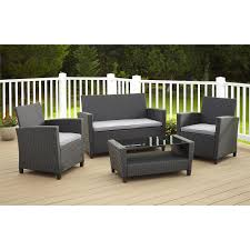 image black wicker outdoor furniture. This Review Is From:Malmo 4-Piece Black Resin Wicker Patio Conversation Set With Gray Cushions Image Outdoor Furniture I