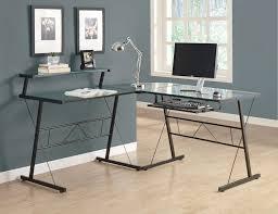 l shaped computer desk glass