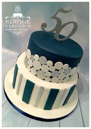 Blue Birthday Cake Designs 50th Birthday Cake Contemporary Design In Masculine Blue
