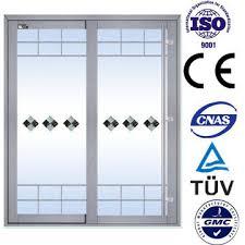 4 panels aluminum sliding doors with double glazed
