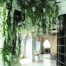 2019 wedding flower house garden hotel wedding decoration flower wisteria vine artificial plant silk flowers decorative artificial rattan from angela0618