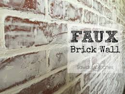 faux brick wall sawdust 2 stitches