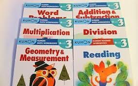 Kumon Math And Reading Details About Kumon Workbooks Grade 3 Set Math Reading 6 Books Free Shipping