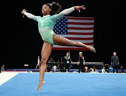 Image Routine Boston Ma 81918 Simone Biles During Her Warmup For Her Floor Excercise Hawth Gymnastics Simone Biles Wins Fifth Us Gymnastics Senior Womens Title The