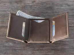gifts for men leather trifold wallet