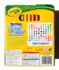 Crayola Supertips 50 Color Chart 100 Count Crayola Supertips Washable Markers Whats Inside