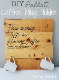 pallet coffee mug holder with thoughtful e