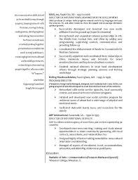 Sample Of Resume For Abroad International Relations Resume Example
