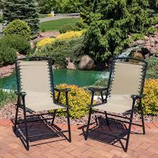 Sunnydaze Mesh Outdoor Suspension Folding Patio Lounge Chair