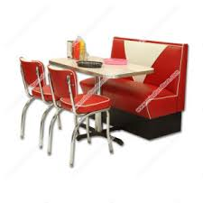 clical retro 1950s diner red table chair and booth set american midcentury retro diner