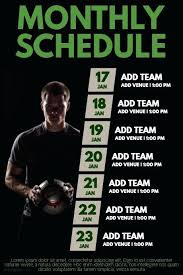 Sports Team Schedule Maker Practice Schedule Templates Word Excel Free Premium Sports