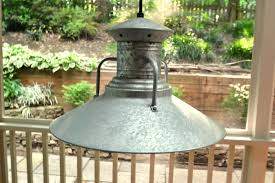 image of patio galvanized light fixtures