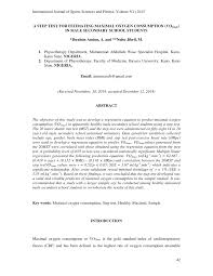 Pdf A Step Test For Estimating Maximal Oxygen Consumption