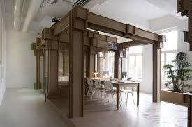 nothing cardboard office interior by alrik koudenburg and joost van bleiswijk cardboard office