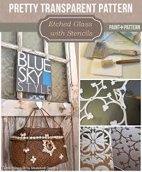 learn how to etch glass with custom vinyl stencils from modello diy etching glass tutorial