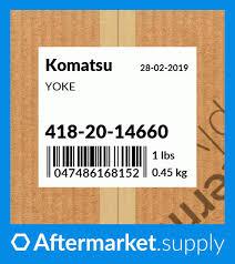 418-20-14660 - YOKE fits Komatsu | AFTERMARKET.SUPPLY