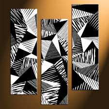 3 abstract black and white wall art home decor 3 piece canvas photography black and white